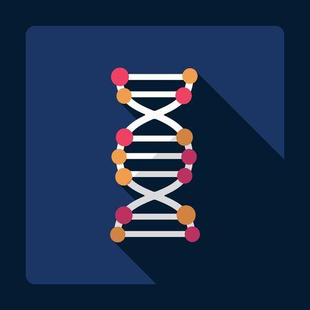 biology cell: Flat modern design with shadow molecular sieve