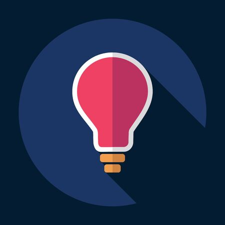 scriibble: strong icon in the wall style flat lightbulb Illustration