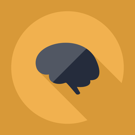 sensory: strong icon in the wall style flat brain