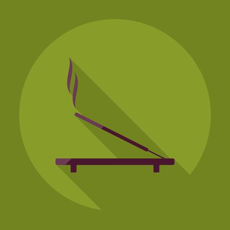 incense: Flat modern design with shadow  incense sticks