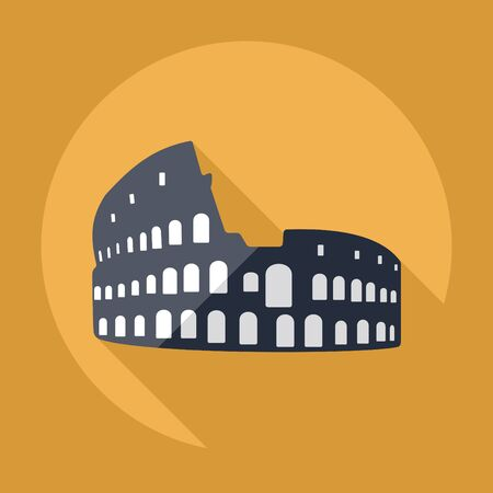 amphitheater: Flat modern design with shadow Colosseum Icon Illustration