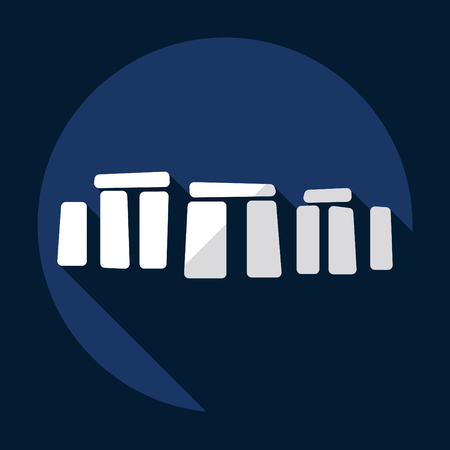 world heritage: Flat modern design with shadow Stonehenge monument
