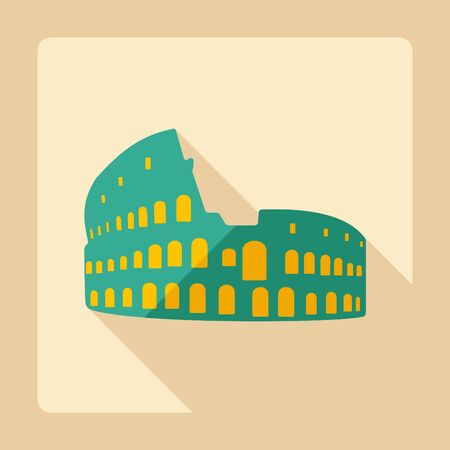 colosseum: Flat modern design with shadow Colosseum Icon Illustration
