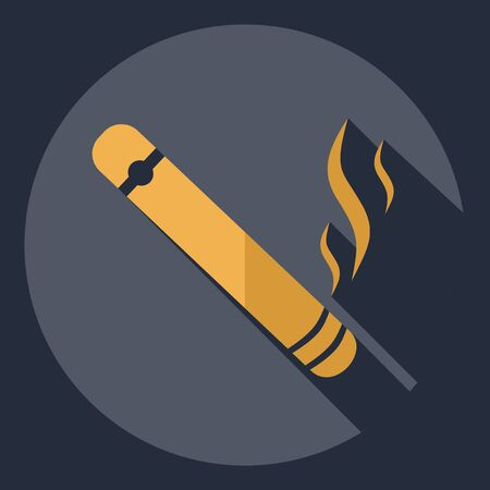 Flat modern design with shadow  Icon cigar
