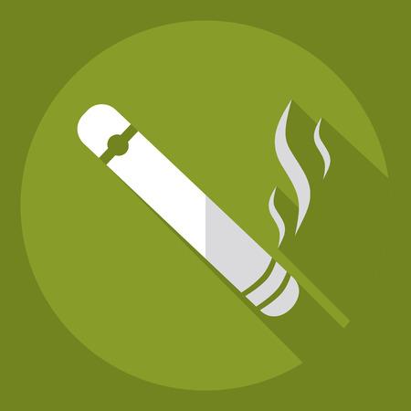 havana cigar: Flat modern design with shadow  Icon cigar