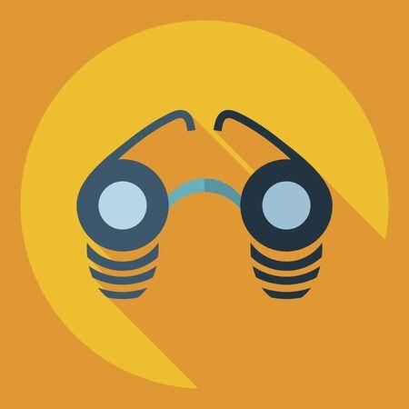 corrective lenses: Flat modern design with shadow  Icon glasses Illustration