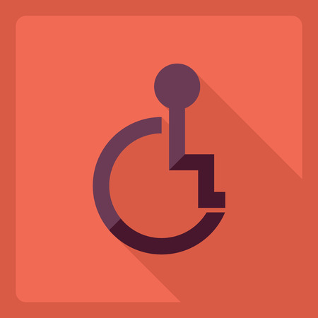physically: Flat modern design with shadow  Icon invalid