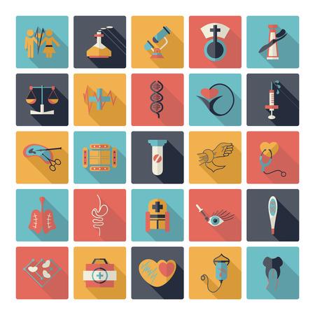 bandaging: Flat concept design with shadow  Set medicine Illustration