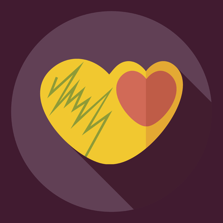 capillary: Flat modern design with shadow  Icon heart organ