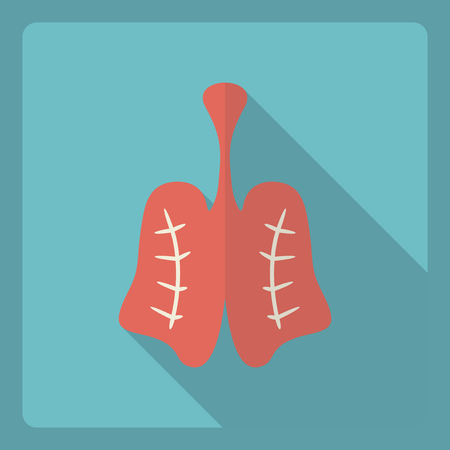 respire: Flat modern design with shadow  Icon lungs