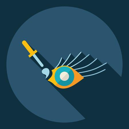 eye drops: Flat modern design with shadow  Icon Eye drops Illustration
