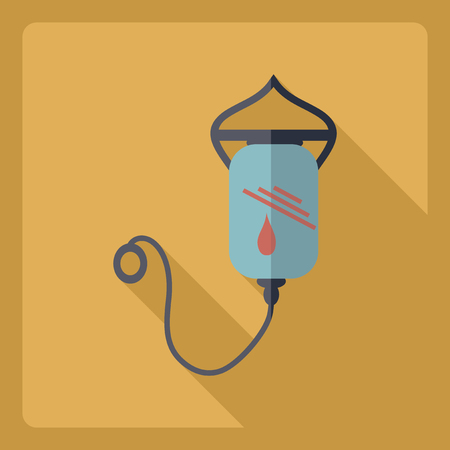 assemblage: Flat modern design with shadow  Icon drop counter Illustration