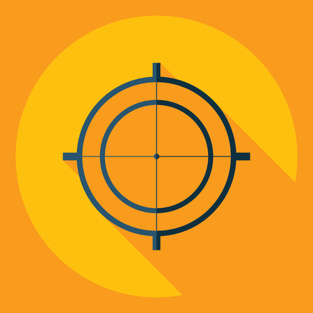 sight: Flat modern design with shadow  Icon sight