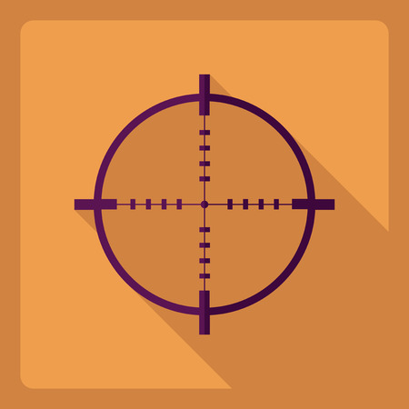 Flat modern design with shadow Icon sight