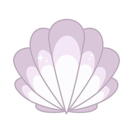 scallop: Scallop seashell on a white background . Vector