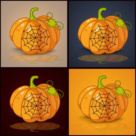 spider web: spider web and background for pumpkins for Halloween Illustration