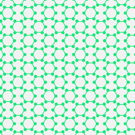 deoxyribose: molecular pattern circle, molecule biology Illustration