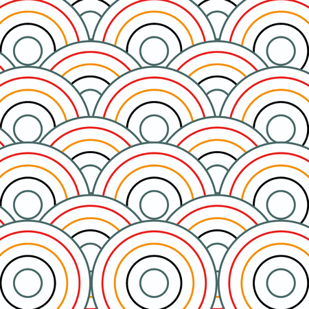 modular rhythm: Circle pattern background. Geometric circle shapes.