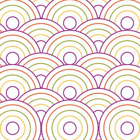 modular rhythm: Circle pattern background. Geometric circle shapes.