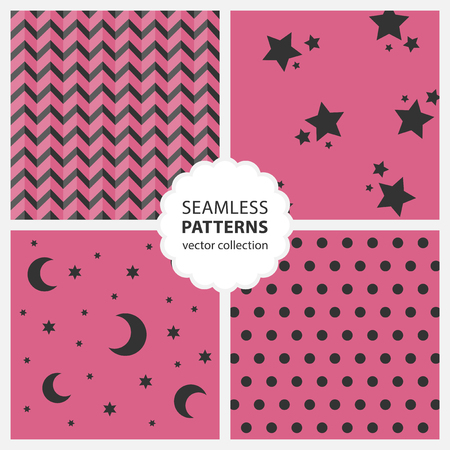 menswear: Childrens pattern with moon and stars Illustration