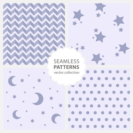 twill: Childrens pattern with moon and stars Illustration