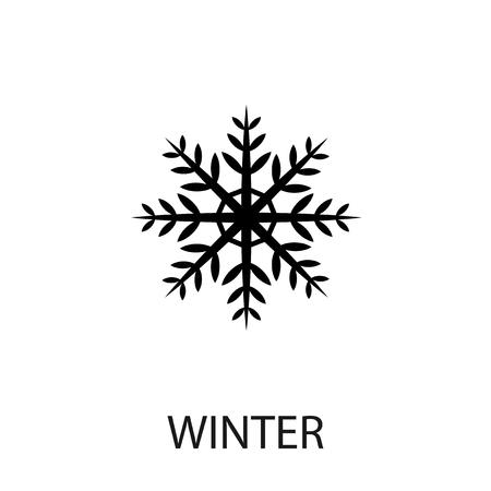 snowflake icon: Snowflake icon. Snowflake Vector isolated on white background. Flat vector illustration in black. EPS 10