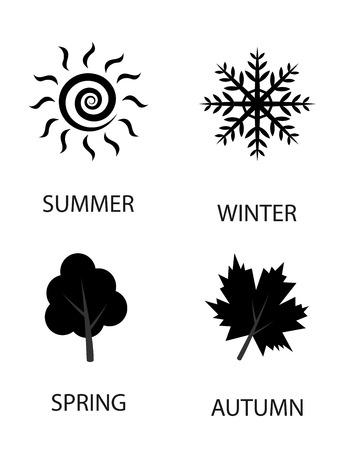 season: Season icons illustration