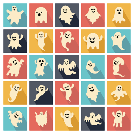ghostly: Set of halloween ghosts