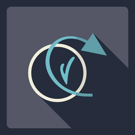 ring binder: Flat modern design with shadow  Icon backup Illustration