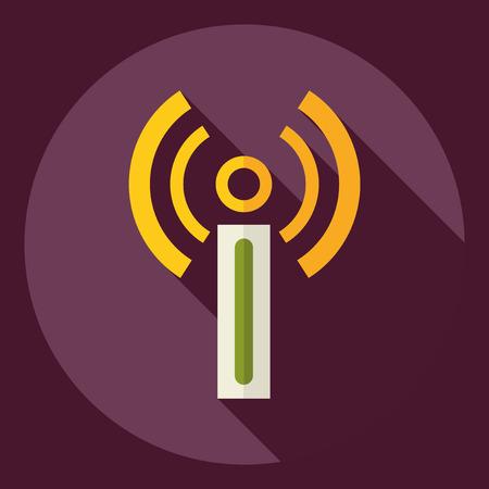 dsl: Flat modern design with shadow  Icon modem Illustration