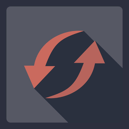 recurrence: Flat modern design with shadow  Icon iteration Illustration