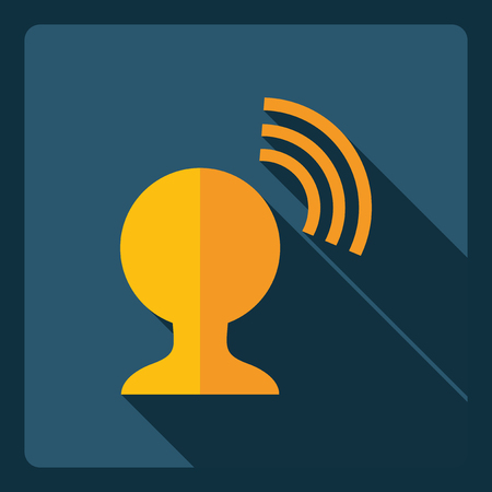 wireless lan: Flat modern design with shadow  Icon signal