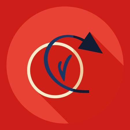 Flat modern design with shadow  Icon backup Illustration