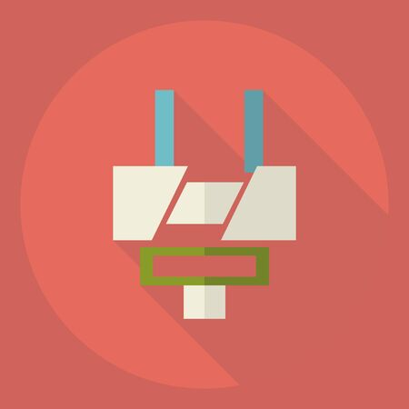 adapter: Flat modern design with shadow  Icon adapter