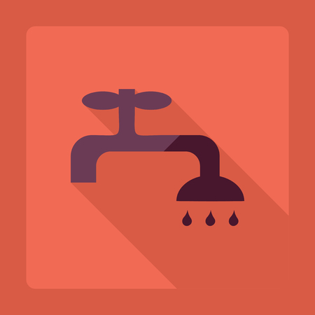 leaking: Flat modern design with shadow  Icon tap