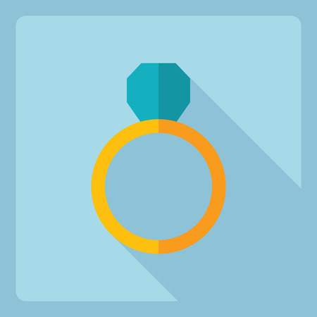 Flat modern design with shadow  Icon ring Illustration