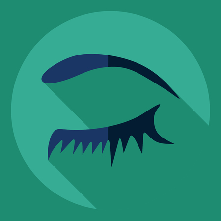 Flat modern design with shadow  Icon eye