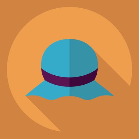 hatband: Flat modern design with shadow  Icon hat