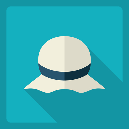 Flat modern design with shadow  Icon hat