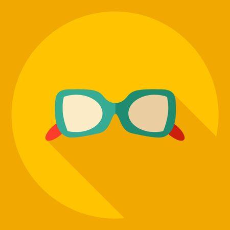 ocular: Flat modern design with shadow  Icon eyeglasses