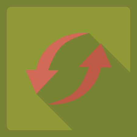 iteration: Flat modern design with shadow  Icon iteration Illustration