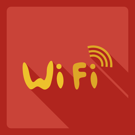 Flat modern design with shadow  Icon wi-fi