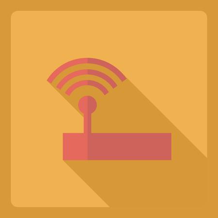 modem: Flat modern design with shadow  Icon modem Illustration