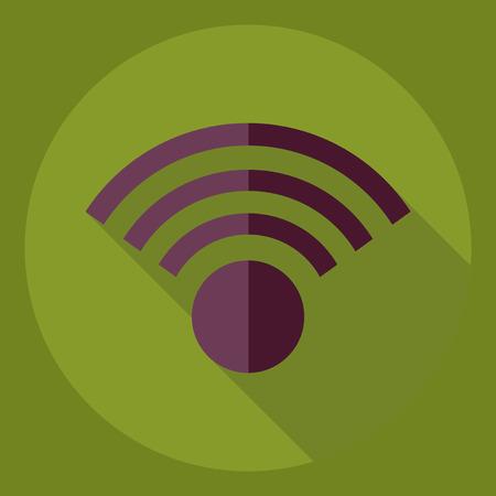 Flat modern design with shadow  Icon wi-fi