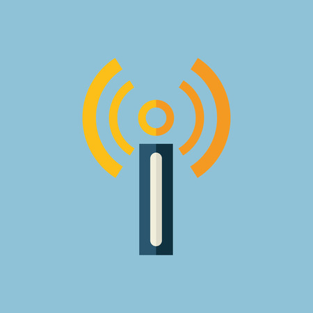 Flat modern design with shadow  Icon modem Illustration