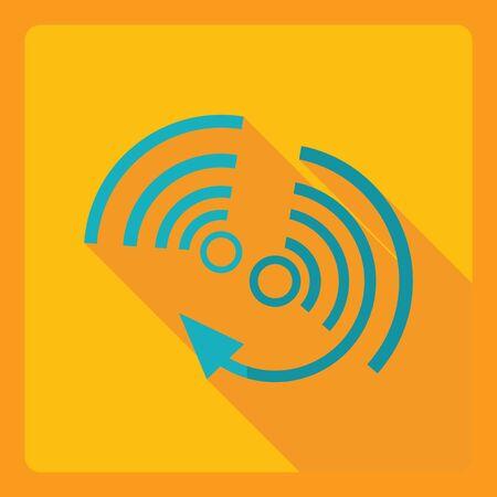 usb memory: Flat modern design with shadow  Icon wi-fi