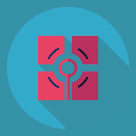 usb memory: Flat modern design with shadow  Icon signal