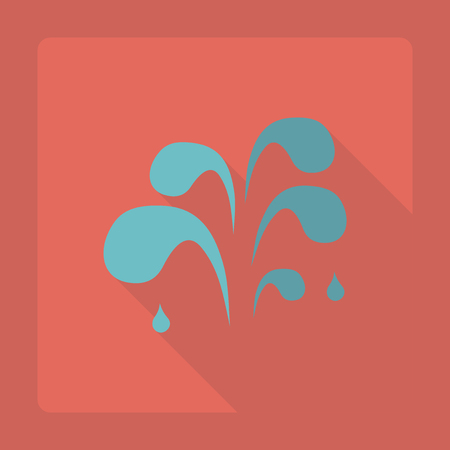 Flat modern design with shadow  Icon water drop