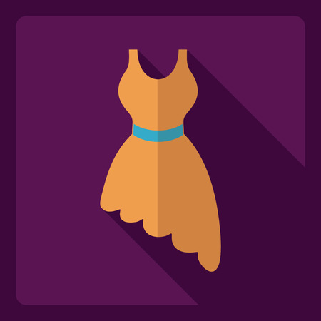 Flat modern design with shadow  Icon dress Illustration