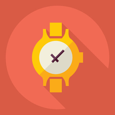 Flat modern design with shadow  Icon  clock Illustration
